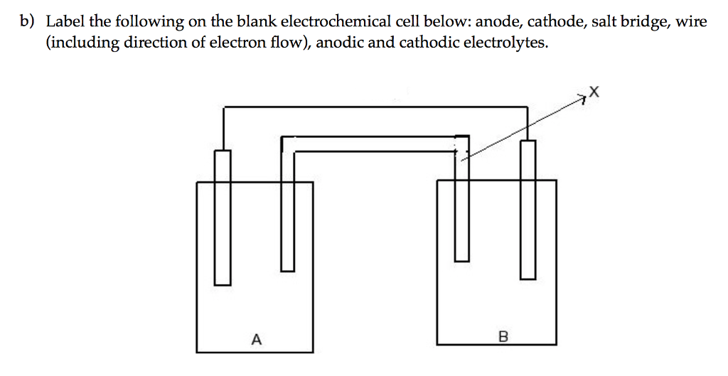 Electrochemical Cell Diagram Blank Wiring Diagram