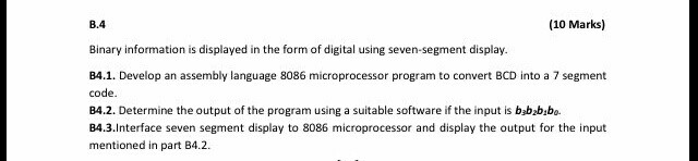 Solved: Subject: Microprocessor Use Software Toll As, Emul