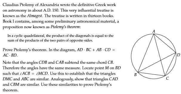 Solved: Claudius Ptolemy Of Alexandria Wrote The Definitiv