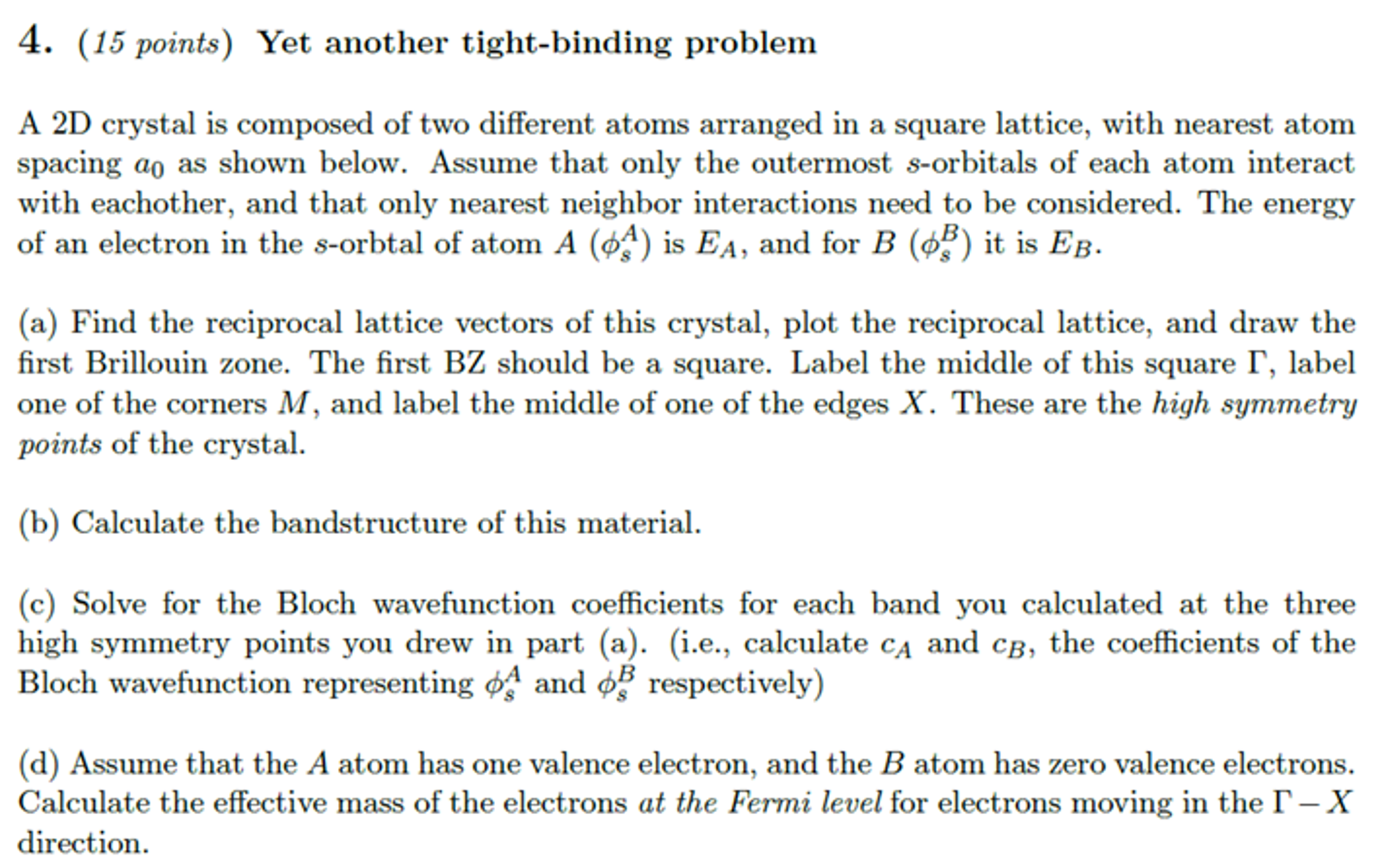Coffee cup calorimeter problems - A 2d Crystal Is Composed Of Two Different Atoms Ar