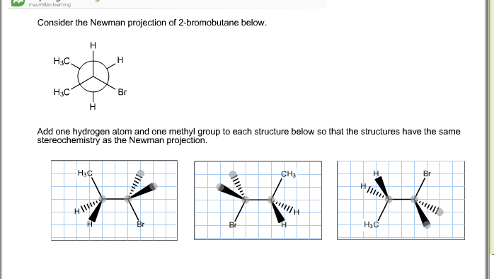 solved consider the newman projection of 2 bromobutane be. Black Bedroom Furniture Sets. Home Design Ideas