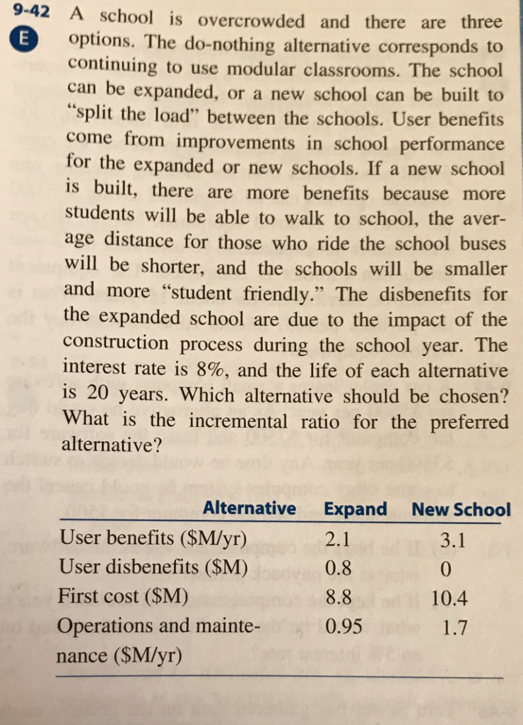 Solved: 9-42 A School Is Overcrowded And There Are Three O