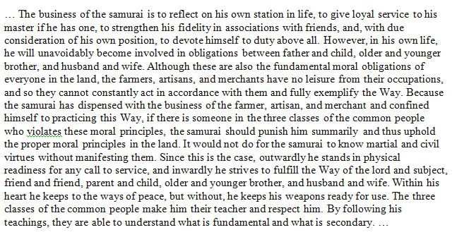 Excerpts From The Way Of The Samurai (Shido) By Ya