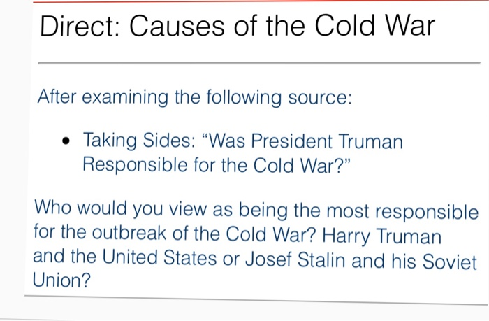 the cold war who was responsible
