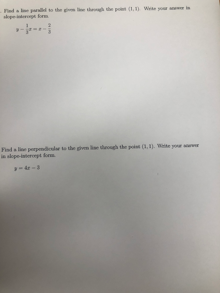 Find a line parallel to the given