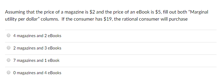 Economics archive october 13 2017 chegg assuming that the price of a magazine is 2 and the price of an ebook is fandeluxe Images