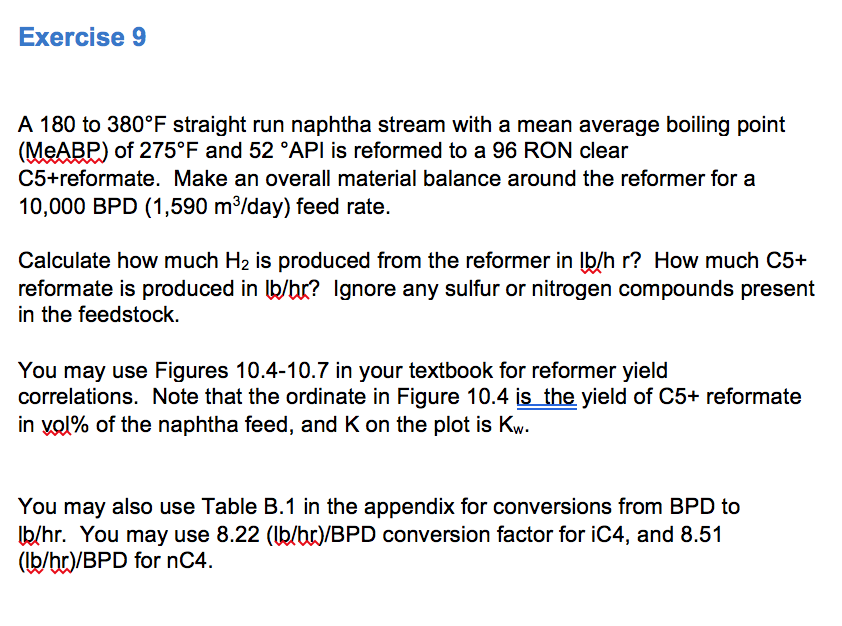 Exercise9 A 180 To 380°F Straight Run Naphtha Stre