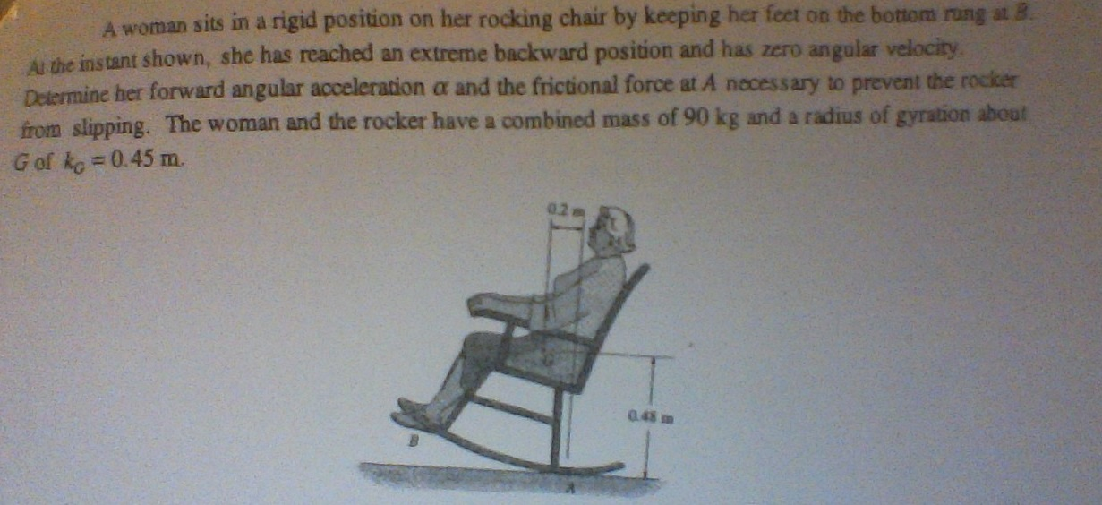 Terrific Solved A Woman Sits In A Rigid Position On Her Rocking Ch Beatyapartments Chair Design Images Beatyapartmentscom