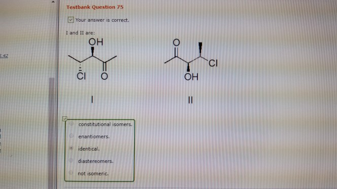 Klein organic chemistry test bank ebook coupon codes image chemistry archive september 30 2017 chegg testbank question 75 your answer is correct i and ii fandeluxe Gallery