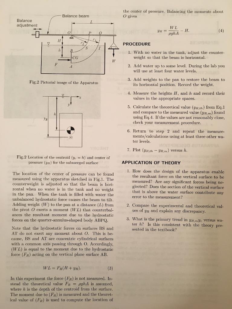 Fluid Mechanics lab 103 prelab. EXPERIMENT ...