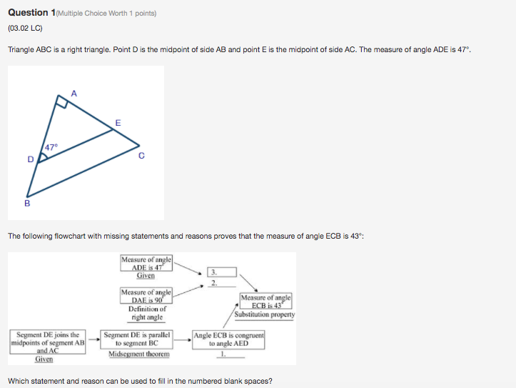 Solved: Question 1 (Multiple Choice Worth 1 Points) (03.02 ...