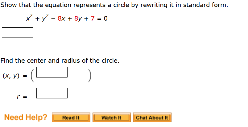 Solved Find An Equation Of The Circle That Satisfies The