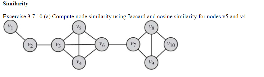 Solved: Compute Node Similarity Using Jaccard And Cosine S