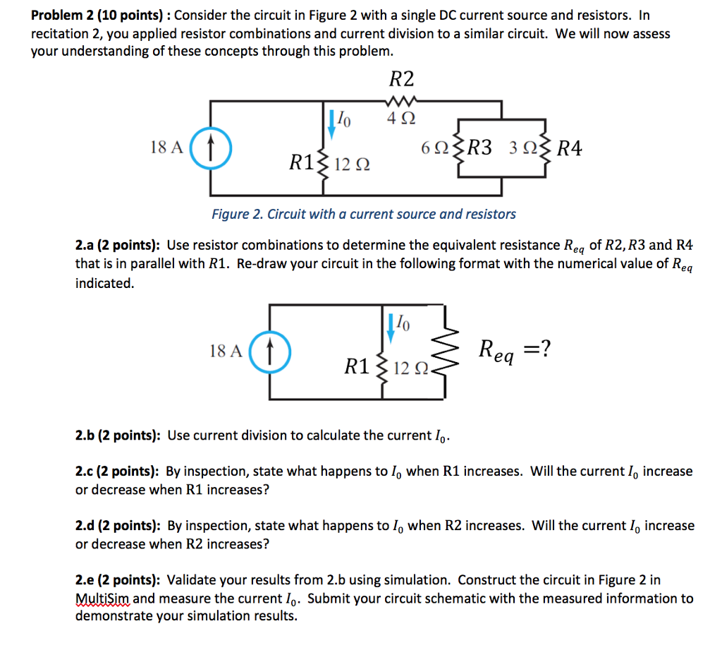 Solved Consider The Circuit In Figure 2 With A Single Dc Find Equivalent Resistance Re Of S Cheggcom Problem 10 Points