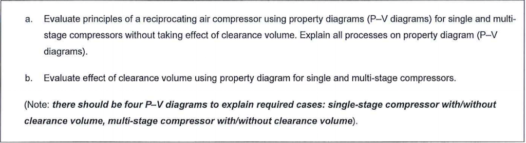 Solved: Evaluate Principles Of A Reciprocating Air Compres