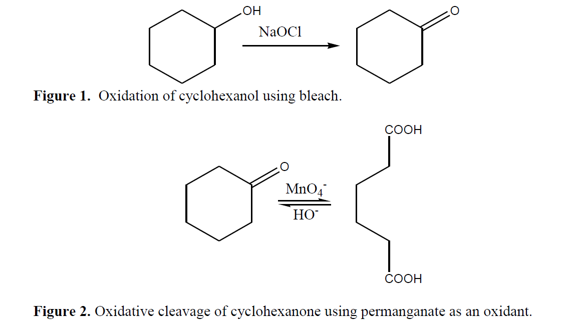the chemical process of oxidation of cyclohexanol A green method for synthesis of cyclohexanone oxidation of cyclohexanol using sodium hypochlorite cyclohexane experimental objectives  dehydration of cyclohexanol to cyclohexene can be accomplished by  be sure to thoroughly insulate the apparatus to help speed up the distillation process record the boiling temperature range.