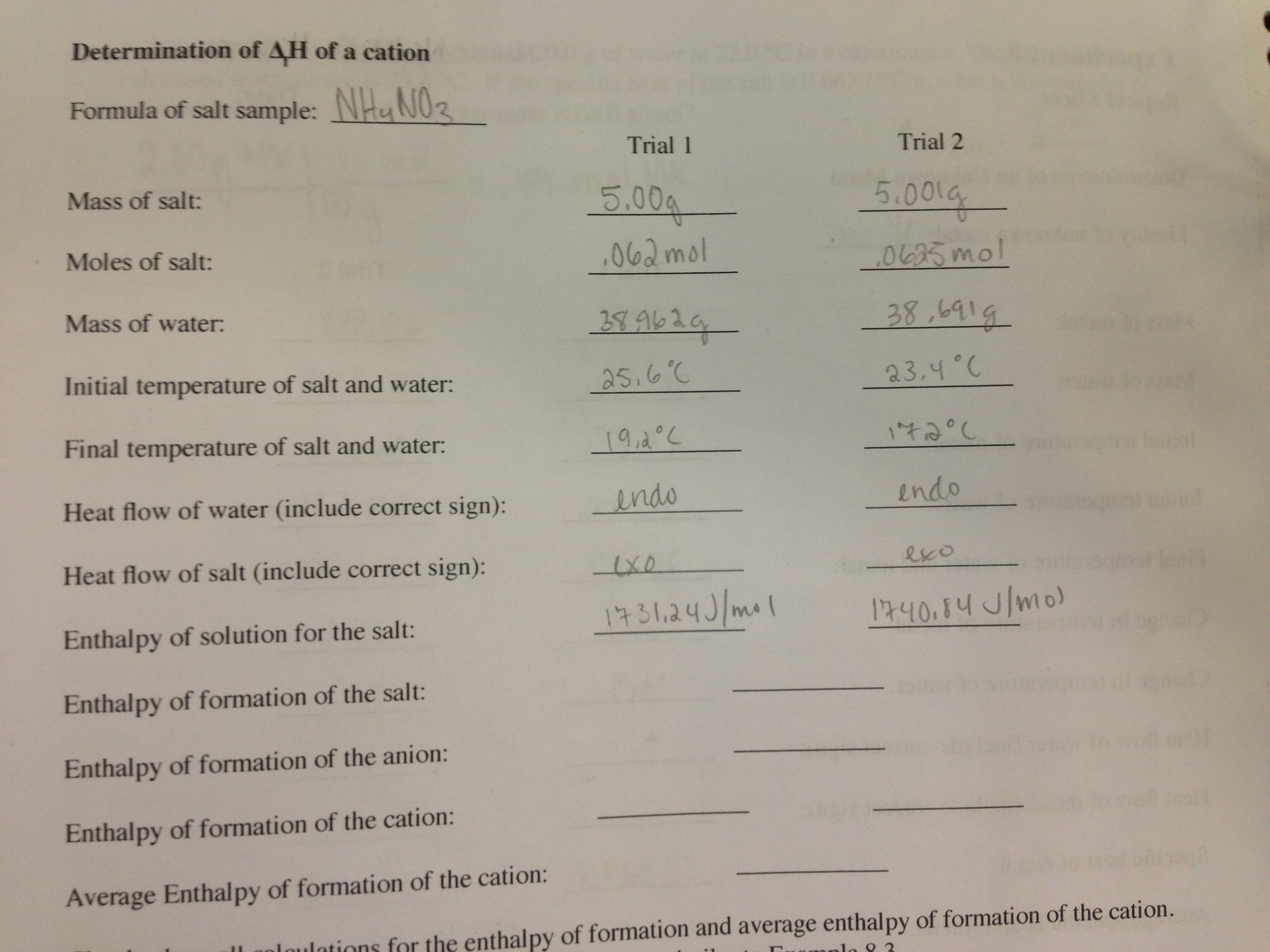 how to find enthalpy when given temperautre