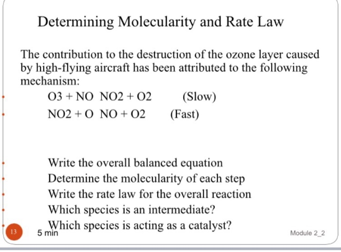 reaction rate and rate law
