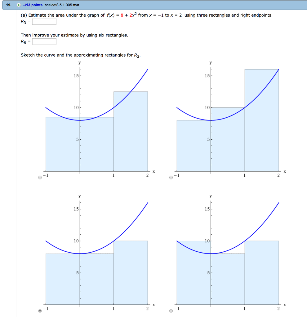 Solved: (a) Estimate The Area Under The Graph Of F(x) = 8 ...