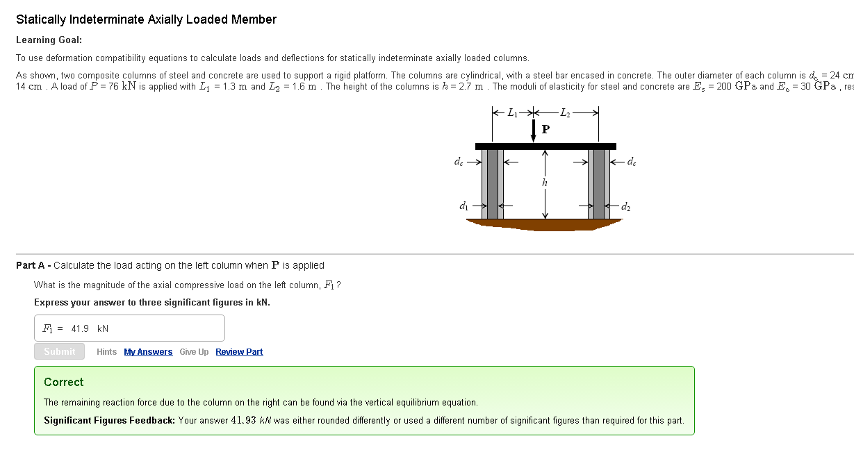 Parts Of A Column >> Solved Parts That Need Solving Part B Determine The Defo
