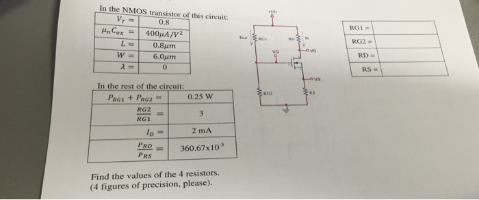 In the NMOS transistor of this circuit: In the re