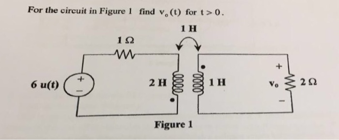 For the circuit in Figure 1 find V_o (t) for t > 0