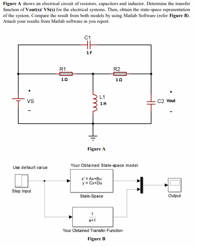Solved: A Shows An Electrical Circuit Of Resistors, Capaci ...