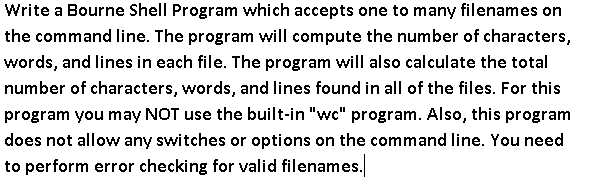bourne shell commands