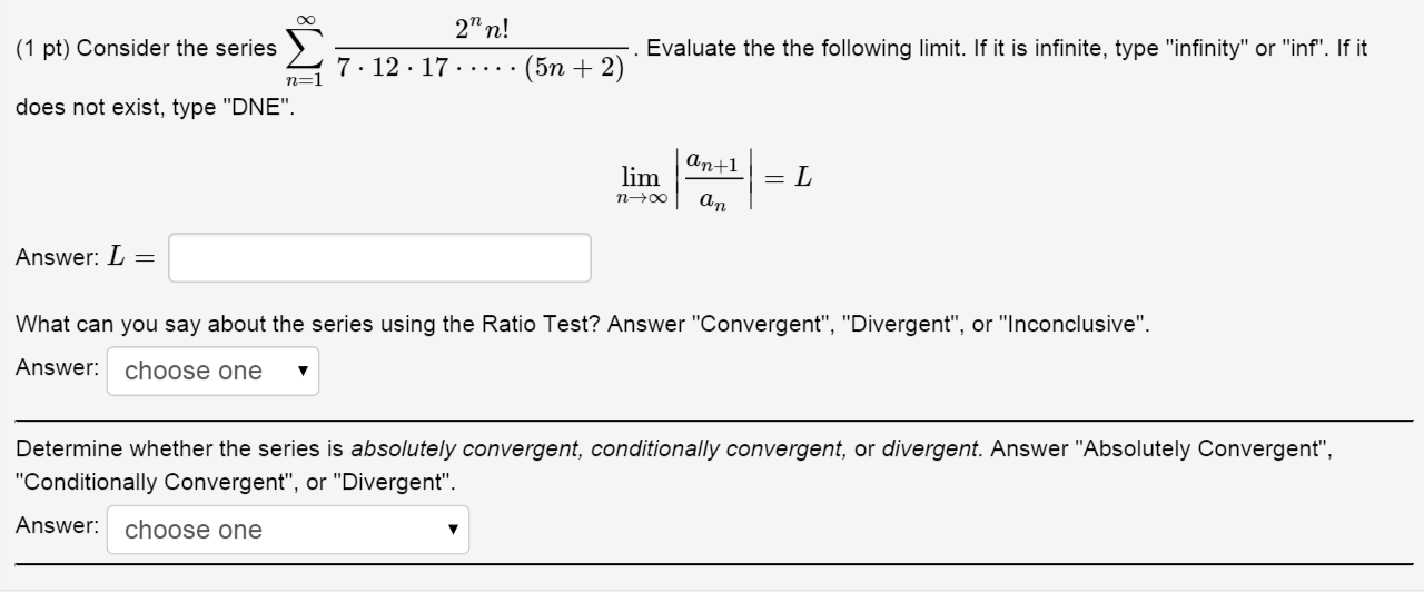 Solved Evaluate The The Following Limit If It Is Infinit