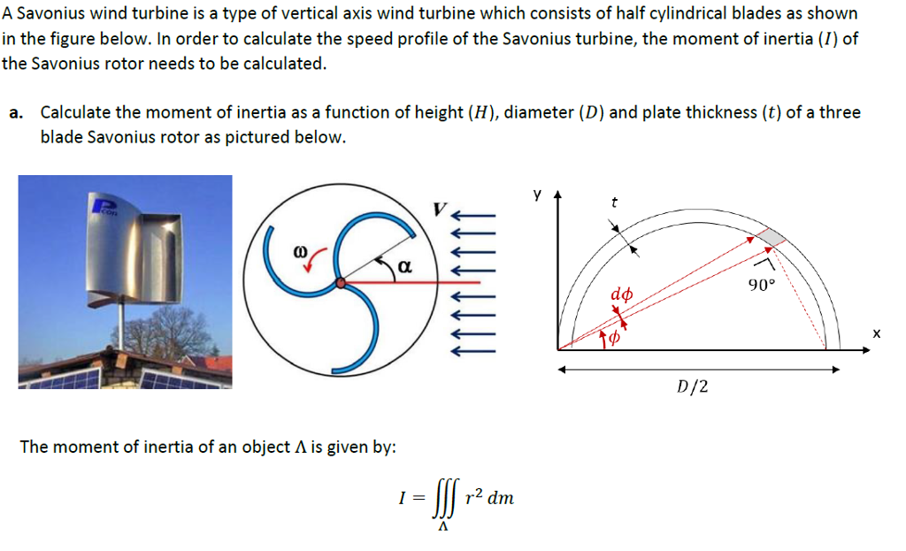 Solved: A Savonius Wind Turbine Is A Type Of Vertical Axis