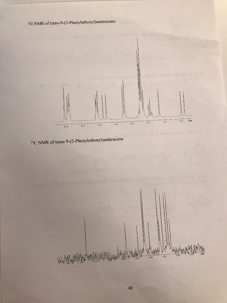 H NMR Of Trans 9 2 Phenylethenylanthracene 13C