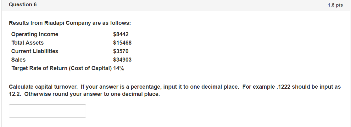 Round your answers to one decimal place example for answers 999 a.