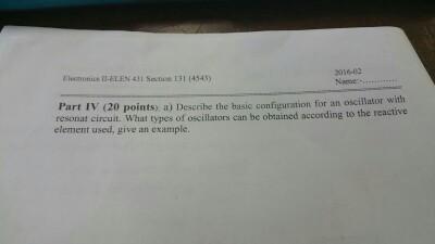 Describe the basic configuration for an oscillator