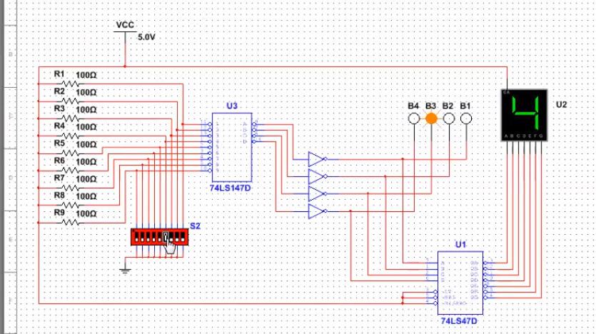 Decimal To Bcd Encoder And 7 Segment Display Using Chegg