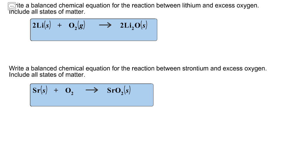 Solved Ite A Balanced Chemical Equation For The Reaction