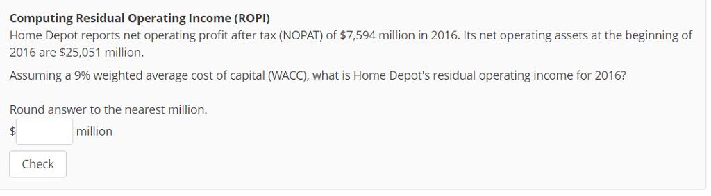home depot wacc