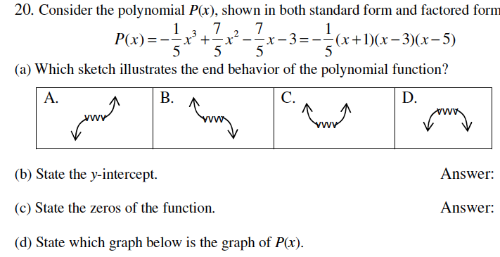 Solved 20 Consider The Polynomial Px Shown In Both Sta