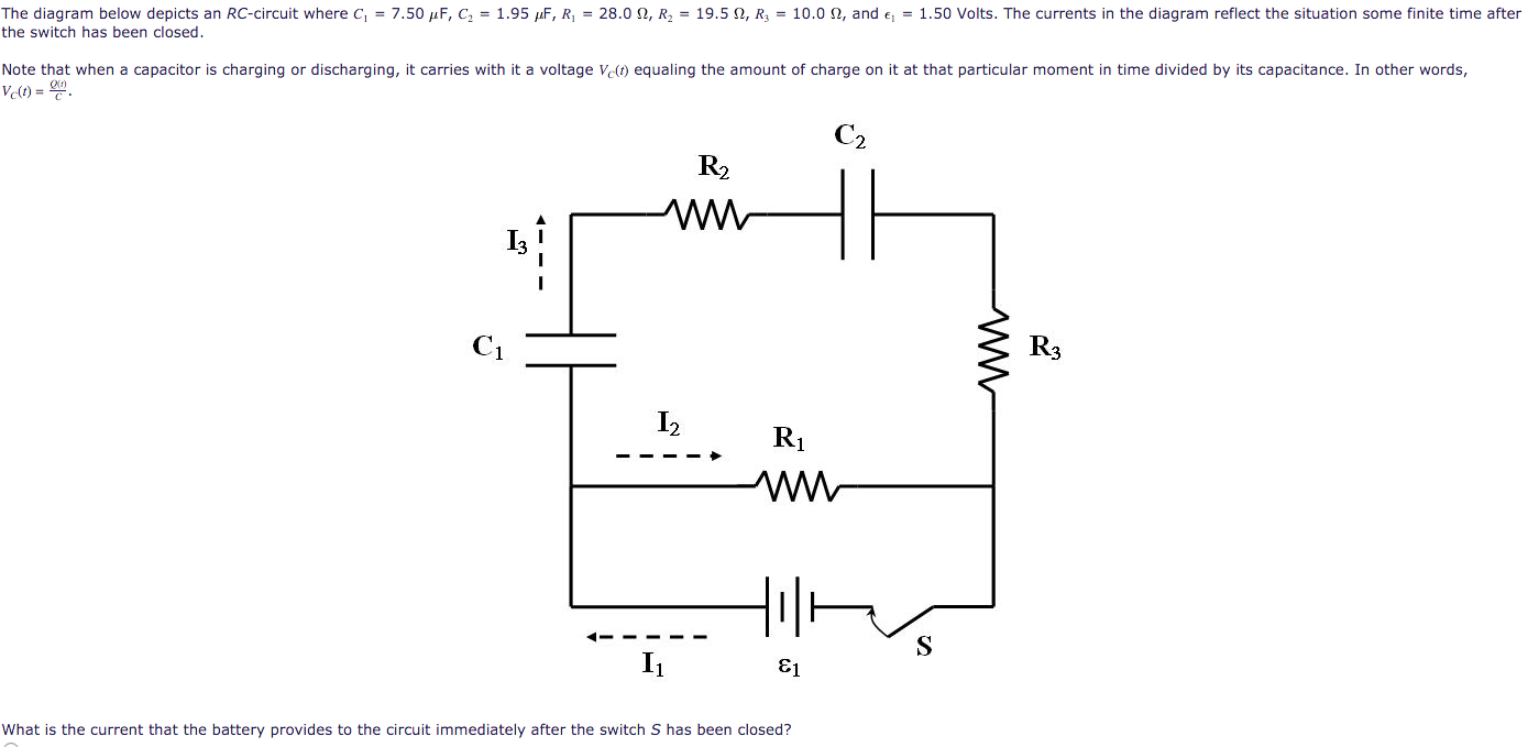 Solved The Diagram Below Depicts An Rc Circuit Where C1 Capacitor Charging And Discharging