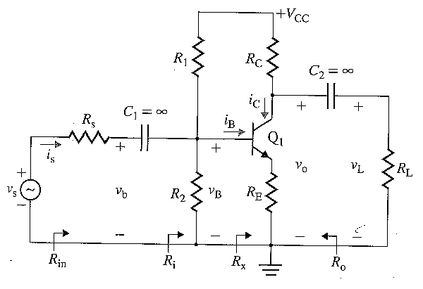 solved  for the common emitter amplifier shown below assum
