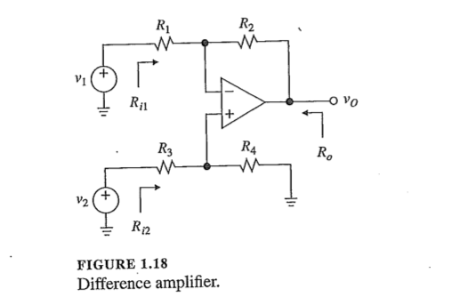 Let The Difference Amplifier Of Fig   Be Implemented With Four Matched  Ks Resistances And An Op Amp Having Ra Oo A  V V And Ro  S