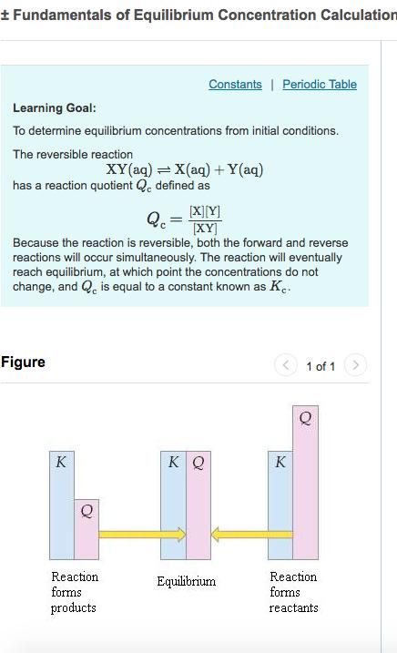 Solved fundamentals of equilibrium concentration calculat fundamentals of equilibrium concentration calculation constants periodic table learning goal to determine equilibrium concentrations from initial urtaz Gallery
