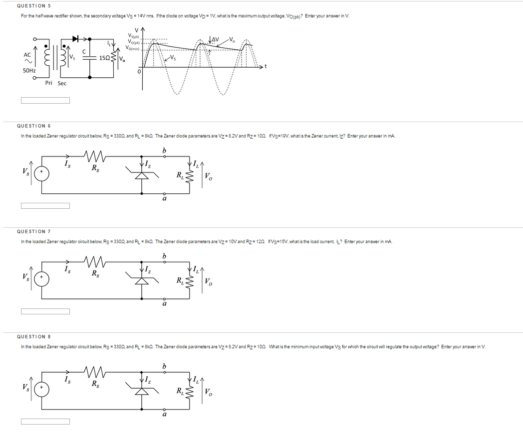 solved for the half wave rectifier shown the secondary v