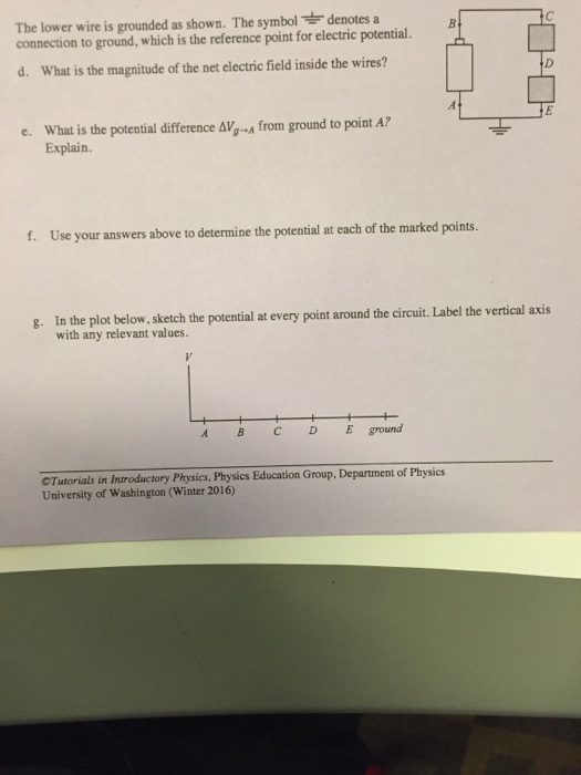 Solved: The Lower W Ire Is Grounded As Shown  The Symbol D