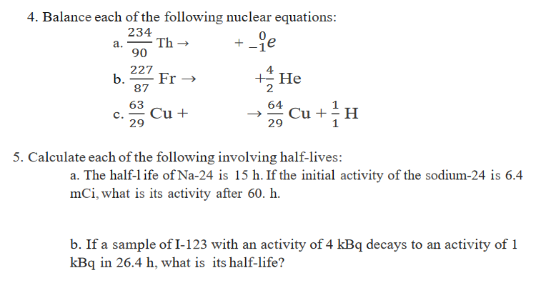 Decay Equations Teaching Resources   Teachers Pay Teachers besides A 1 Describing Chemical Reactions Worksheet Answers From Balancing likewise Nuclear decay equations by greenAPL   Teaching Resources also  further Nuclear Decay Worksheet Answers   Homedressage furthermore Nuclear Decay Worksheet Answers Awesome 16 Unique Nuclear Equations furthermore Balancing Nuclear Equations Worksheet The Perfect Balancing Nuclear furthermore α decay equations besides nuclear decay worksheet   Siteraven likewise Solved  4  Balance Each Of The Following Nuclear Equations furthermore Writing Natural Nuclear Decay Expressions moreover Nuclear decay equations  GCSE level    YouTube likewise Nuclear Decay Equations Practice Worksheet Answers moreover Radioactive Dating Worksheet   Movedar also NUCLEAR EQUATIONS WORKSHEET ANSWERS   TypePad   FlipHT5 together with Nuclear Decay Worksheet Answers Along with Nuclear Equations. on nuclear decay equations worksheet answers