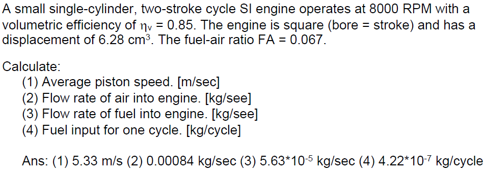 A Small Single Cylinder Two Stroke Cycle SI Engin