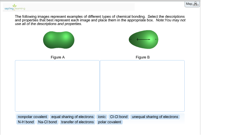 different types of chemical bonding Answer to the following images represent examples of different types of chemical bonding select the descriptions and properties t.