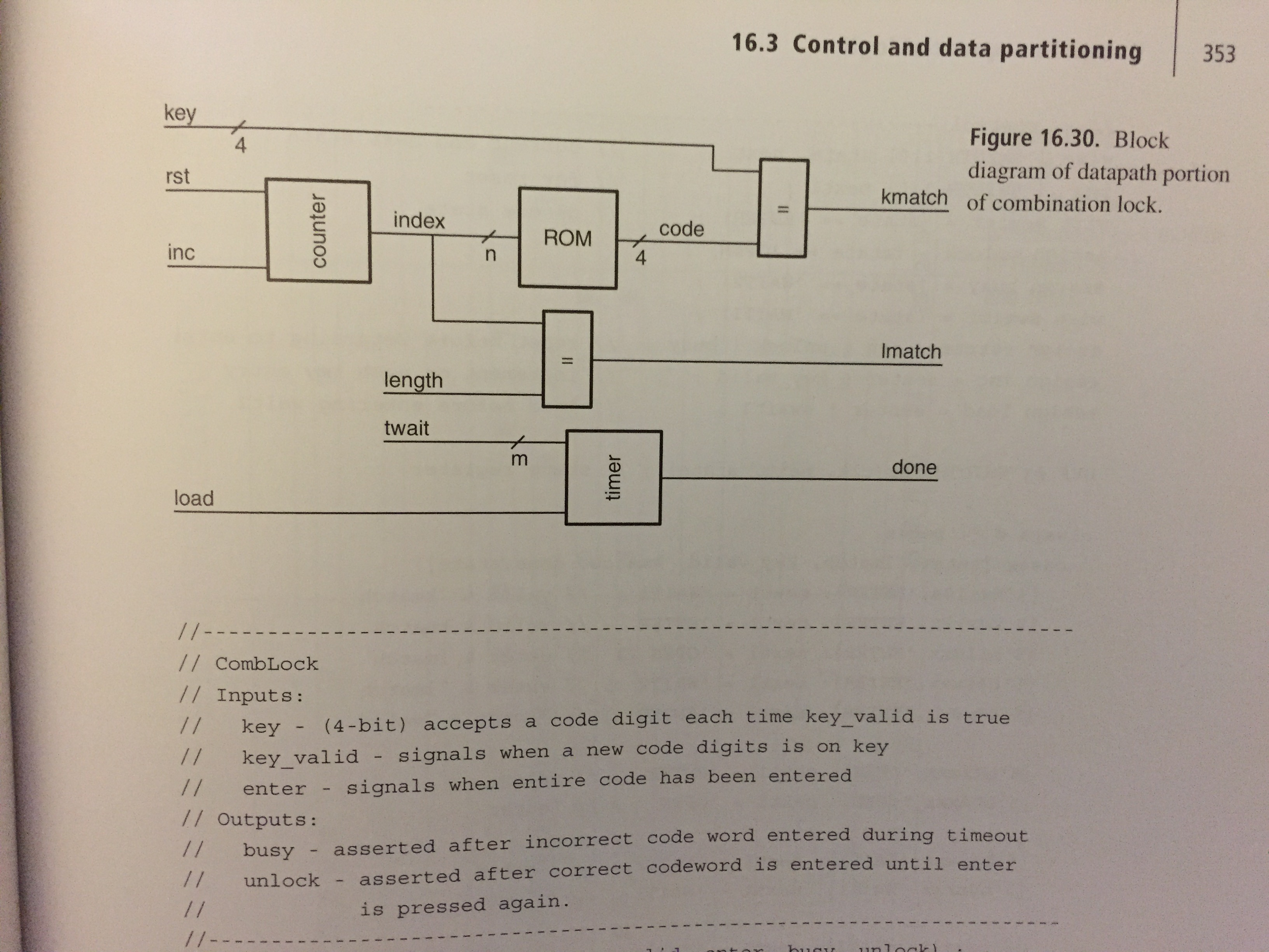 Microcoded Controller And Sequencer Following Is Combination Lock Diagram The From Section 182