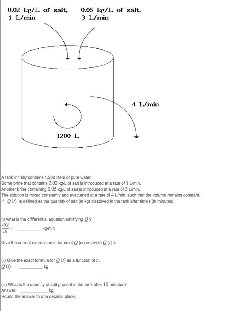 Solved 002 kgl of salt 1 lmin 005 kgl of salt 3 l 002 kgl of salt 1 lmin 005 kgl of pooptronica