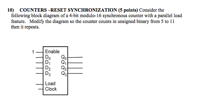 block diagram of 4 bit synchronous counter solved: consider the following block diagram of a 4-bit mo ... #9