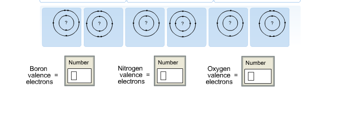 Solved The Shell Diagrams Of Three Atom Are Shown Below A